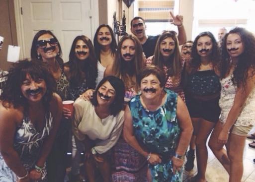Surprise 60th moustache birthday
